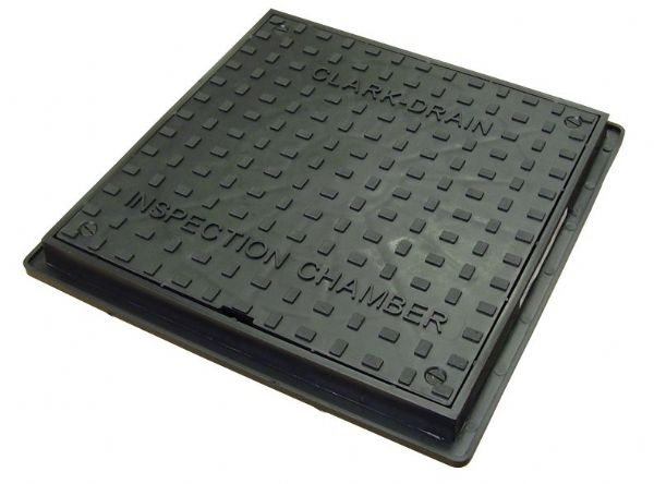 Clark Drain Inspection Chamber Solid Manhole Cover 400mm Square to Round CD300